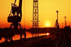 Portal crane Stock Photography