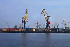 Portal cranes Royalty Free Stock Photos