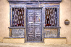 Portal da capela de Saint Roch, Carona, Italy foto de stock royalty free