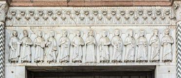 Portal da igreja de San Martino Foto de Stock Royalty Free