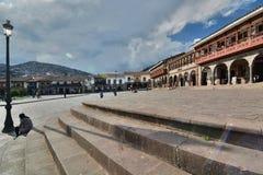 Portal de Carnes armas de plaza Cusco peru Arkivfoto