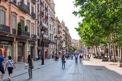 Portal-de l 'Àngel-Straße in der Mitte von Barcelona, Spanien stockbild