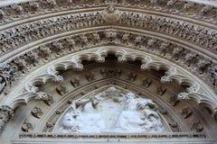 Portal de la catedral de Zagreb foto de archivo libre de regalías
