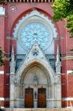 Portal de la iglesia en Helsinki Imagen de archivo libre de regalías