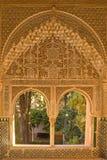 Portal de la ventana adornado en estilo del moorish Fotografía de archivo libre de regalías