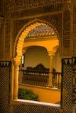 Portal de la ventana adornado en estilo del moorish fotografía de archivo