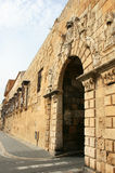 Portal de Sant Antoni nas paredes de Tarragona fotos de stock royalty free