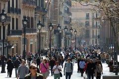 Portal del Angel την άνοιξη Βαρκελώνη Ισπανία Στοκ εικόνες με δικαίωμα ελεύθερης χρήσης