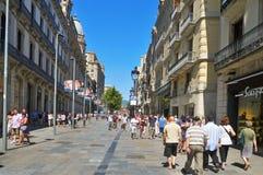 Portal del Anjo, em Barcelona, Spain Fotos de Stock Royalty Free