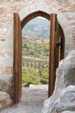 Portal del castillo Imagen de archivo libre de regalías