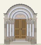 Portal del Romanesque Fotografía de archivo libre de regalías