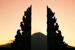 Portal del templo de Bali Fotografía de archivo libre de regalías