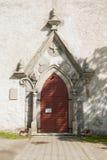 Portal der lutherischen Kirche Stockfoto