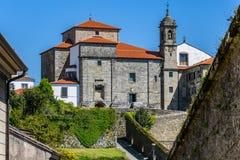 Portal do del de Iglesia de Nuestra Señora em Santiago de Compostela, Fotos de Stock
