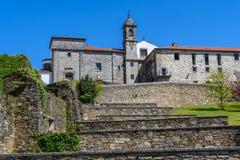 Portal do del de Iglesia de Nuestra Señora em Santiago de Compostela, Fotos de Stock Royalty Free