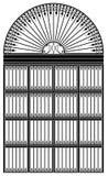 Portal do ferro feito Fotografia de Stock