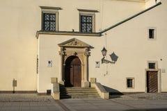Portal do renascimento da câmara municipal da cidade velha em Tarnow, Polônia Foto de Stock
