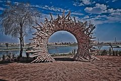 Portal dos lagos love imagens de stock