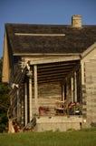 Portal eines Blockhauses Stockfoto