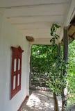 Portal eines rustikalen Hauses Lizenzfreie Stockfotos