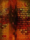Portal em uma parede de tijolo imagens de stock royalty free