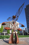 Portal of Evolution sculpture in downtown plaza, Reno, Nevada Royalty Free Stock Image