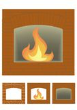 Portal of fire-place Stock Images