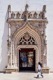 Portal gótico chamativo do Sao Joao Batista Church Foto de Stock