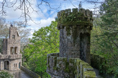 Portal of the Guardians at Quinta de Regaleira. Quinta da Regaleira is a World Heritage Site by UNESCO within the & x22;Cultural Landscape of Sintra& x22; & x28 royalty free stock images