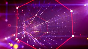 Portal hexagonal psicodélico en el contexto violeta ilustración del vector