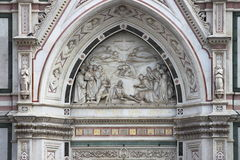 Portal of the Holy Cross Basilica, Florence Stock Images