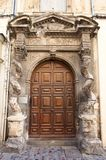 Portal of Hotel de la Lauziere (XVII c.). Arles, France Stock Images