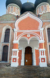 Portal of Intercession cathedral, Izmaylovo Estate, Moscow, Russ Royalty Free Stock Image