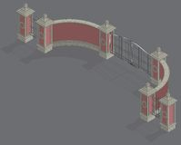 Portal isométrico de la puerta del vector Imagen de archivo libre de regalías