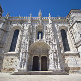 Portal of jeronimos monastery, belem, lisbon Royalty Free Stock Photos
