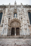 Portal of Jeronimos Monastery in Lisbon, Portugal Stock Photo