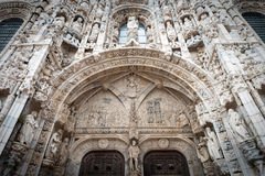 Portal of Jeronimos Monastery in Lisbon, Portugal Stock Photos
