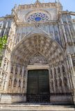 Portal la Giralda Cathedral in Seville, Spain Stock Images