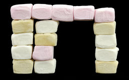 Portal made of marshmallows Royalty Free Stock Photo
