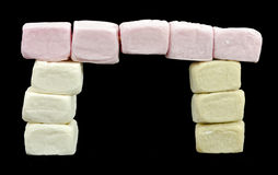 Portal made of marshmallows Royalty Free Stock Image