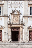 Portal of the Mannerist Santarem See Cathedral aka Nossa Senhora da Conceicao Church. Portugal Royalty Free Stock Images