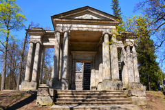 Portal Maskinen Gatchina petersburg russia st Arkivfoton