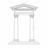 Portal med bruk av den Tuscan beställningen Royaltyfri Bild