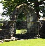 Portal medieval - abadía de Cambuskenneth Foto de archivo libre de regalías