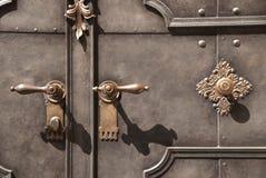 Portal metálico pesado Imágenes de archivo libres de regalías