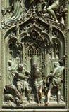 Portal of the Milan cathedral Stock Photos