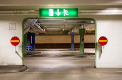 Portal in multi-storey car park Stock Photography