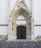 Portal na st Mark kościół w Zagreb Obraz Royalty Free