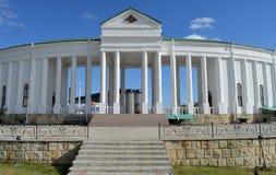 Portal no cemitério militar, dobrador, Tighina, Transnistria fotografia de stock royalty free
