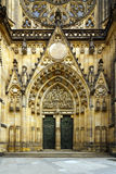 Portal od gothic cathedral Stock Photos